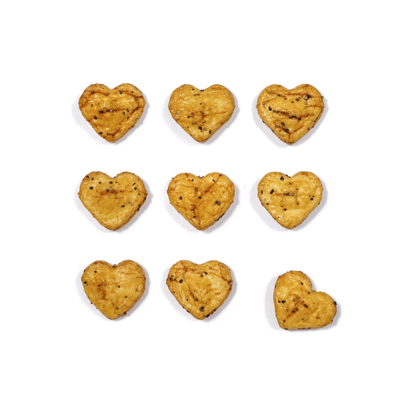 Mini Heart Senbei Black Pepper