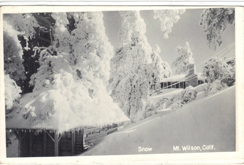 RPPC- Snow at Mt. Wilson,California Post Card - 1