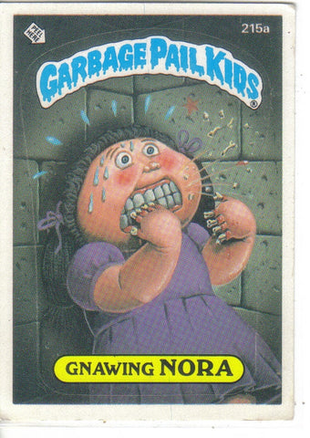 Garbage Pail Kids 1986 #215a Gnawing Nora