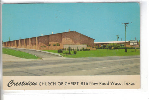 Crestview Church of Christ-Waco,Texas Post Card - 1