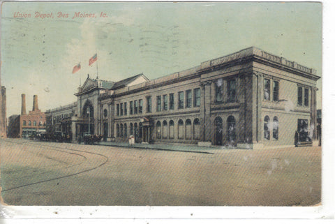 Union Depot-Des Moines,Iowa Post Card - 1