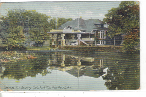 View from Lake,Country Club,Park Hill-Yonkers,New York Post Card - 1