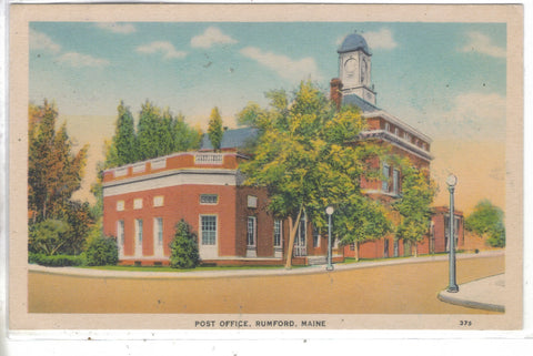 Post Office-Rumford,Maine Post Card - 1