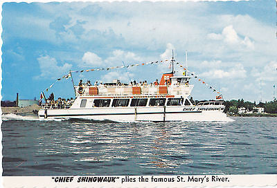 """Chief Shingwauk""Tour Boat Postcard - Cakcollectibles - 1"