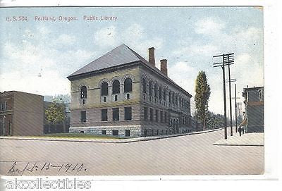 Public Library-Portland,Oregon 1910 - Cakcollectibles