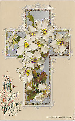 """An Easter Greeting"" John Winsch Postcard - Cakcollectibles - 1"
