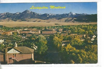 View of Livingston,Montana with Mount Baldy in Background 1961 - Cakcollectibles