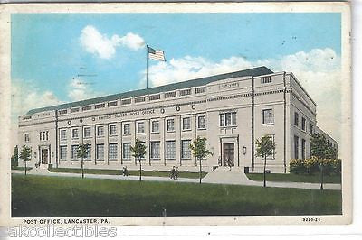 Post Office-Lancaster,Pennsylvania 1938 - Cakcollectibles
