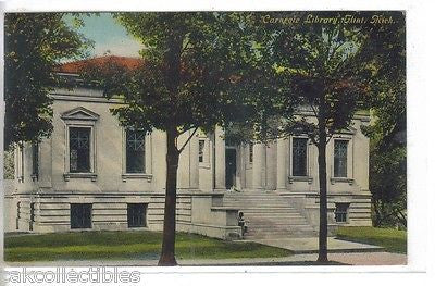 Carnegie Library-Flint,Michigan 1911 - Cakcollectibles - 1