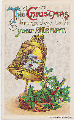 """This Christmas Bring Joy To Your Heart"" John Winsch Postcard - Cakcollectibles - 1"