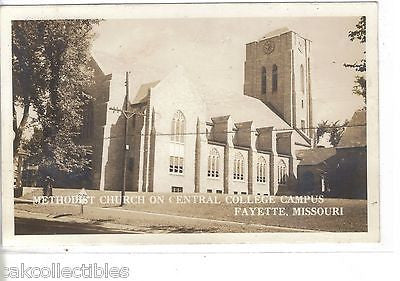 RPPC-Methodist Church on Central College Campus-Fayette,Missouri - Cakcollectibles - 1