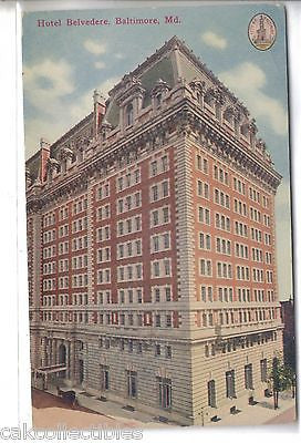 Hotel Belvedere-Baltimore,Maryland - Cakcollectibles