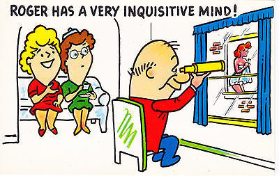 Roger Has A Very Inquisitive Mind Comic Postcard - Cakcollectibles