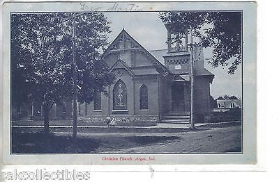 Christian Church-Argos,Indiana 1907 - Cakcollectibles - 1