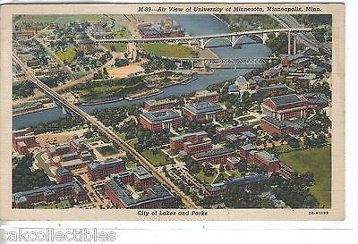 Aerial View of University of Minnesota-Minneapolis,Minnesota 1943 - Cakcollectibles