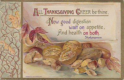 """All Thanksgiving Cheer Be Thine"" John Winsch Postcard - Cakcollectibles - 1"