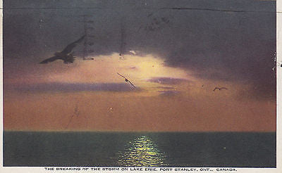"""The Breaking Of The Storm On Lake Erie""-Port Stanley,Ont.,Canada Postcard - Cakcollectibles - 1"