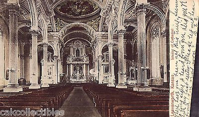 Interior of Cathedral-Leavenworth,Kansas 1907 - Cakcollectibles
