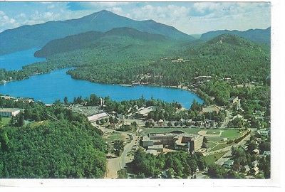 Aerial View, Lake Pacid, New York - Cakcollectibles