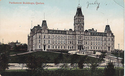 Parliament Buildings, Quebec, Canada Postcard - Cakcollectibles - 1