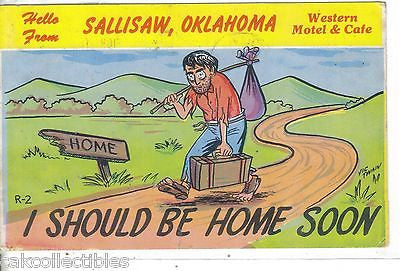 Comic Post Card-Hello from Sallisaw,Oklahoma 1962 - Cakcollectibles