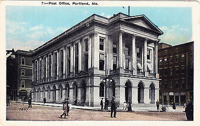 Post Office, Portland Maine Postcard - Cakcollectibles