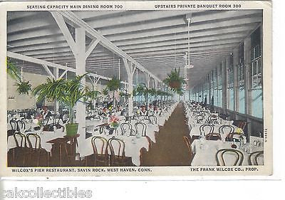Interior,Wilcox's Pier Restaurant-Savin Rock,West Haven,Connecitcut - Cakcollectibles - 1