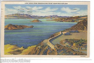 Lake Mead from Observation Point near Boulder Dam-Nevada 1939 - Cakcollectibles