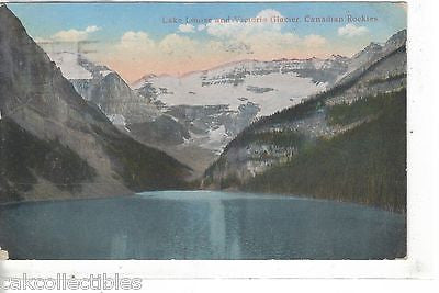 Lake Louise and Victoria Glacier-Canadian Rockies 1920 - Cakcollectibles
