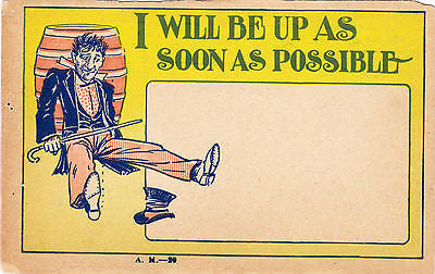 I Will Be Up As Soon As Possible Comic Postcard - Cakcollectibles