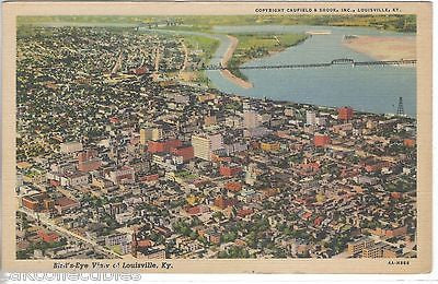 Bird's-Eye View of Louisville,Kentucky - Cakcollectibles