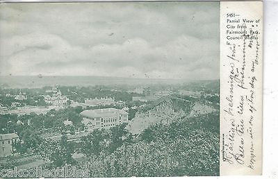 Partial View of City from Fairmunt Park-Council Bluffs,Iowa UDB - Cakcollectibles