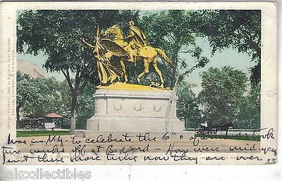 William T. Sherman Statue-Central Park-New York City 1907 - Cakcollectibles