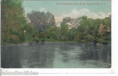 River Scene at Lien's Park-Sioux Falls,South Dakota - Cakcollectibles