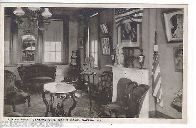 Living Room,General U.S. Grant Home-Galena,Illinois - Cakcollectibles