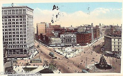 Campus Martius-Detroit,Michigan 1916 - Cakcollectibles