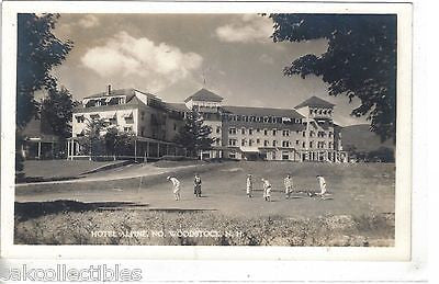 RPPC-Playing Golf,Hotel Alpine-No. Woodstock,New Hampshire - Cakcollectibles - 1