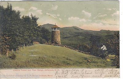 Carters Tower and Pres Range-Jefferson,New Hampshire 1906 - Cakcollectibles