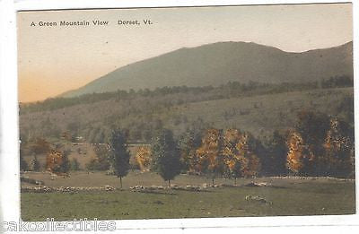 A Green Mountain View-Dorset,Vermont (Hand Colored) - Cakcollectibles