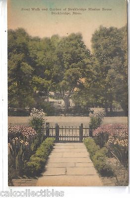 Front Walk & Garden,Stockbridge Mission House-Stockbridge,Ma. (Hand Colored) - Cakcollectibles
