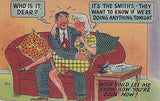 """""How You're Doin' Now !"" Linen Comic Postcard - Cakcollectibles - 1"