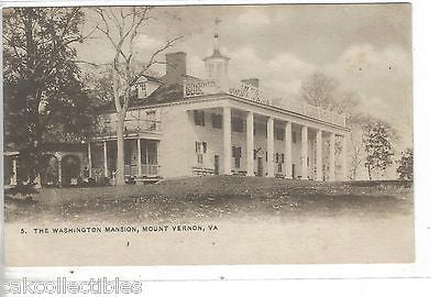 The Washington Mansion-Mount Vernon,Virginia UDB - Cakcollectibles