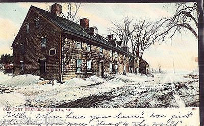 Old Fort Western-Augusta,Maine 1906 - Cakcollectibles