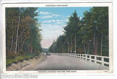 Greetings from Maine-Motoring through The Pine Tree State 1931 - Cakcollectibles