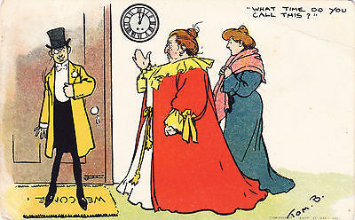 What Time Do You Call This Comic Postcard - Cakcollectibles