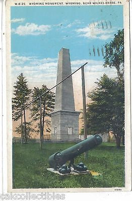 Wyoming Monument,Wyoming near Wilkes-Barre,Pennsylvania 1933 - Cakcollectibles