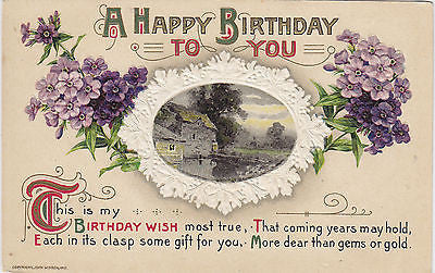 A Happpy Birthday To You Embossed John Winsch Postcard - Cakcollectibles
