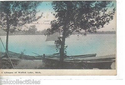 A Glimpse of Walled Lake,Michihgan 1912 - Cakcollectibles - 1