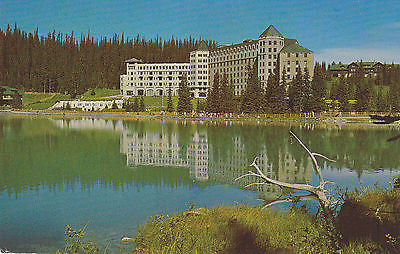 """Chateau Lake Loise"" At Canadian Rockies Postcard - Cakcollectibles - 1"
