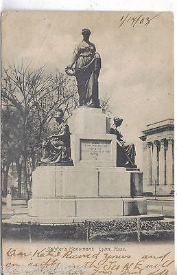 Solsier's Monument-Lynn,Massachusetts 1908 - Cakcollectibles